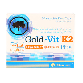 Gold Vit K2 plus 30 kaps.